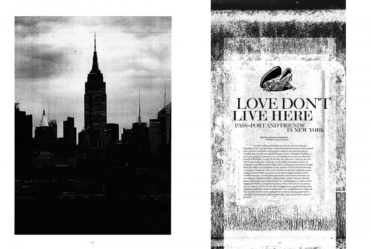 Love Don't Live Here | Pass~Port in NYC - From issue #37...