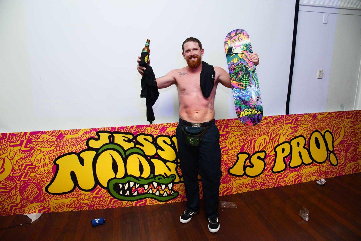 JESSE NOONAN IS PRO!!! - Santa Cruz welcomes the karaoke king...