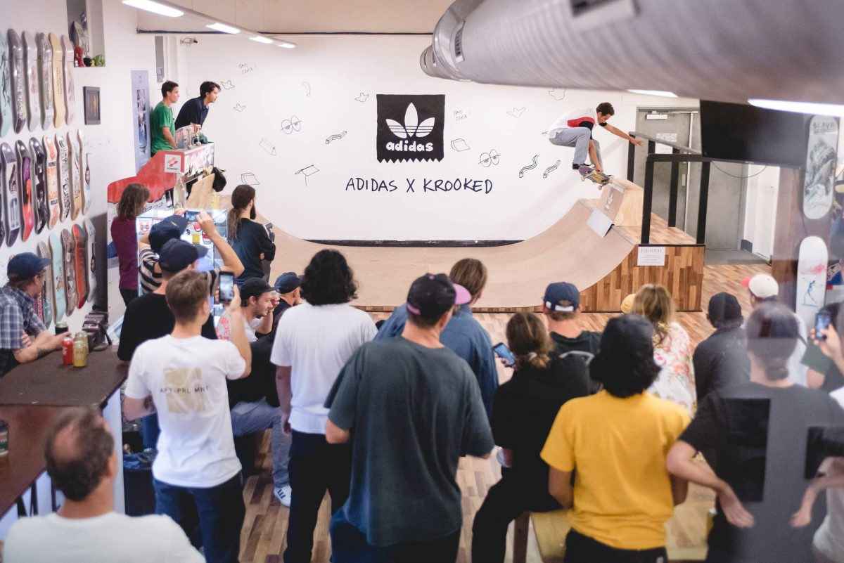 Krooked X Adidas Capsule Launch - Parliament Skateshop, Brisbane.