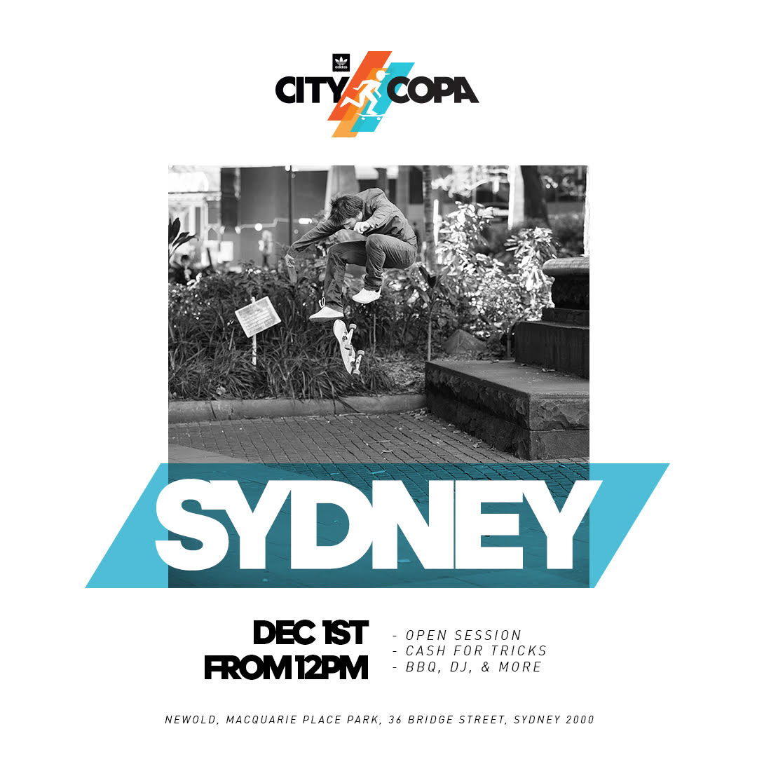ADIDAS PRESENTS: CITY COPA – SYDNEY - 'NEW-OLD' revived for the day!!!