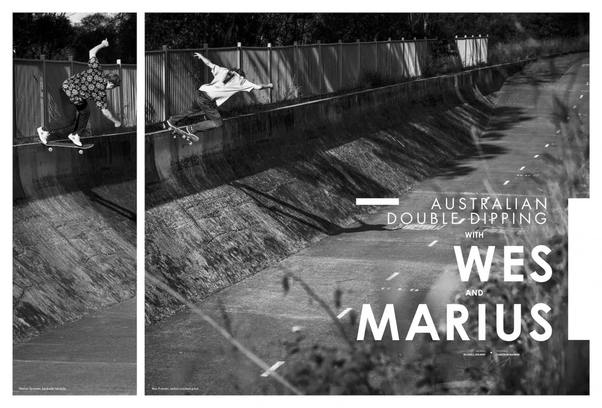 WES AND MARIUS: AUSTRALIAN DOUBLE DIPPING - Best mates on a stealthy mission Down Under...
